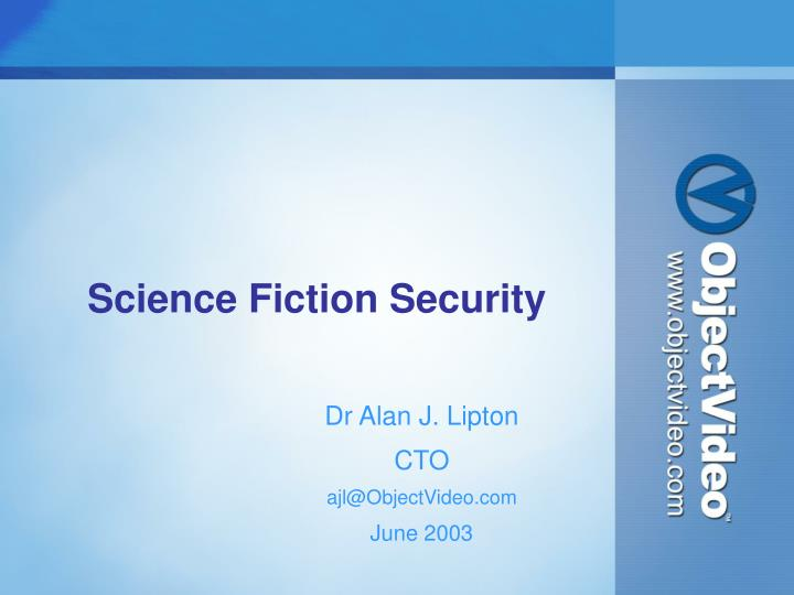 science fiction security n.