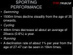 sporting performance