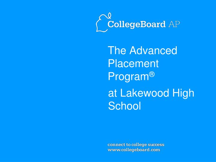 the advanced placement program n.