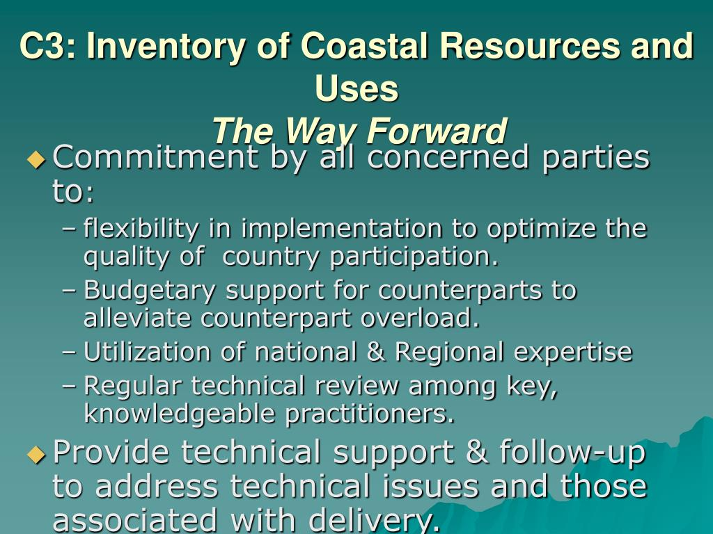 C3: Inventory of Coastal Resources and Uses