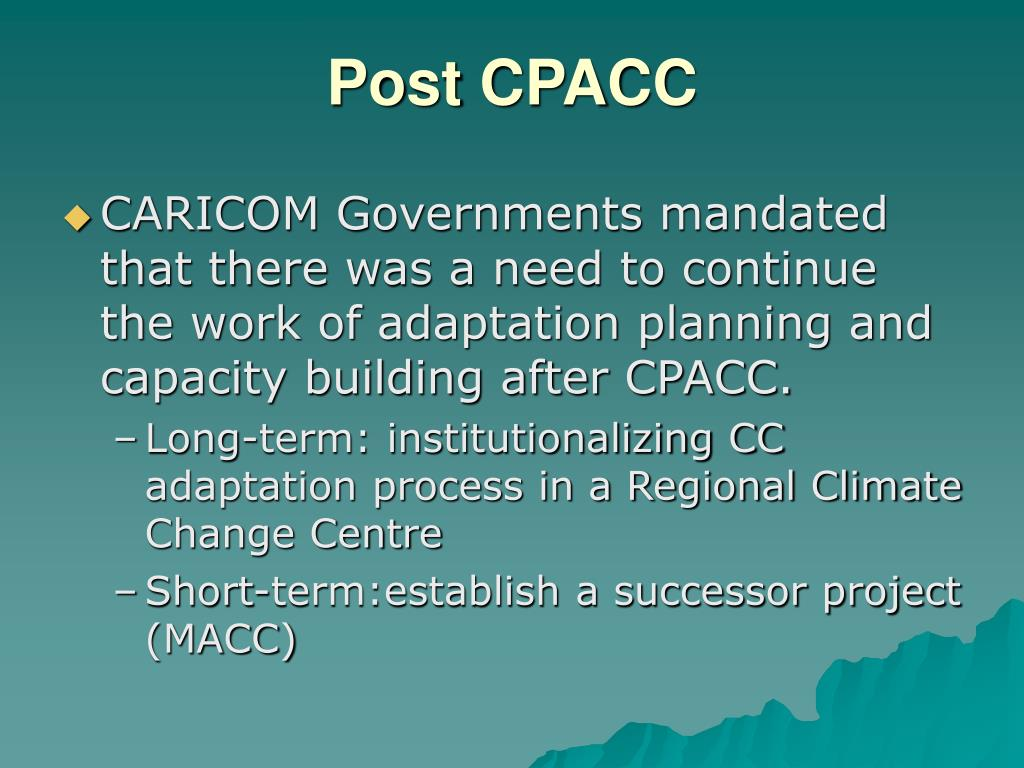 Post CPACC