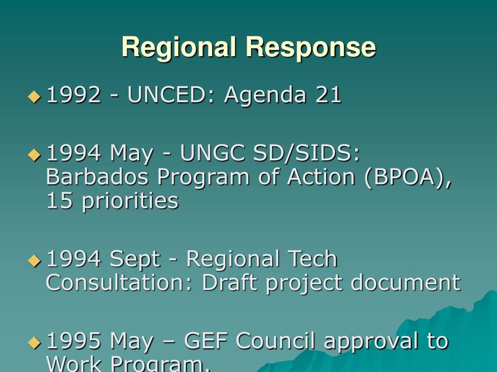 Regional Response