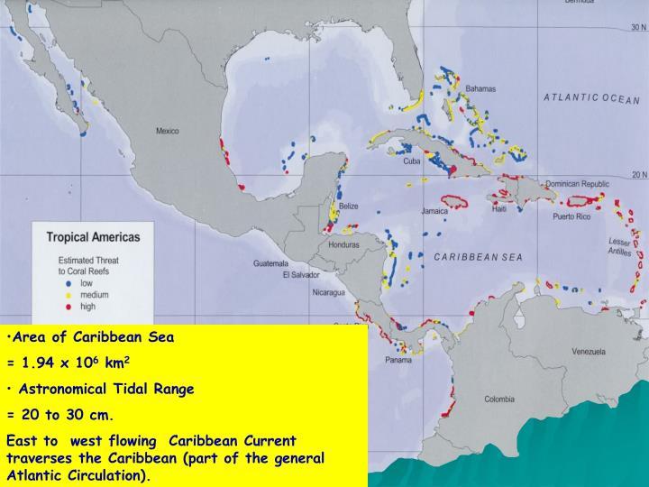 Area of Caribbean Sea