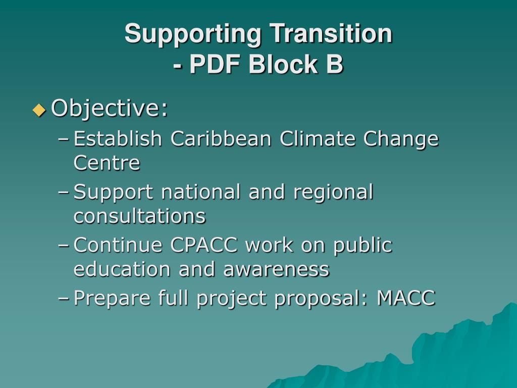 Supporting Transition