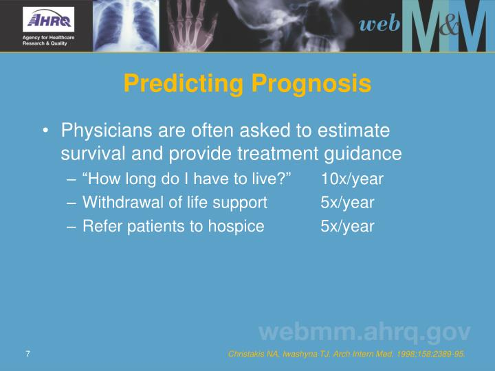 Predicting Prognosis