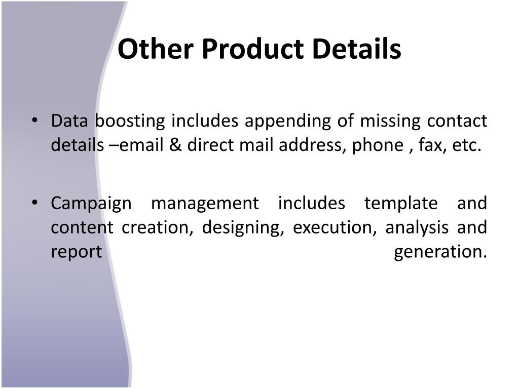 Other Product Details