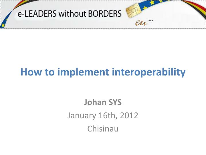 how to implement interoperability n.