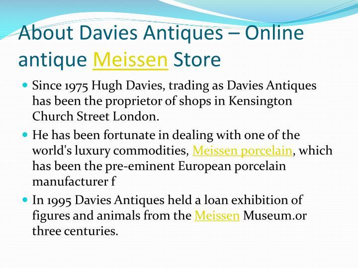 About davies antiques online antique meissen store