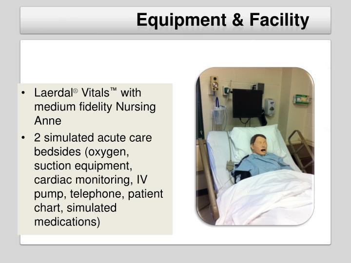 Equipment & Facility