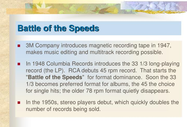 3M Company introduces magnetic recording tape in 1947, makes music editing and multitrack recording possible.