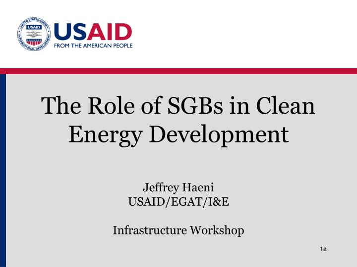 the role of sgbs in clean energy development n.