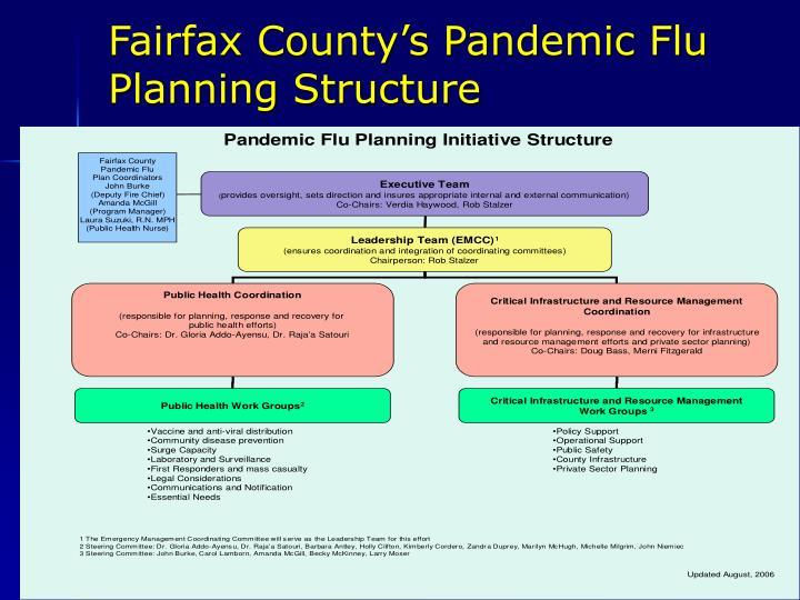 Fairfax County's Pandemic Flu