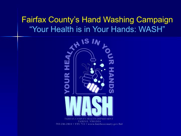 Fairfax County's Hand Washing Campaign