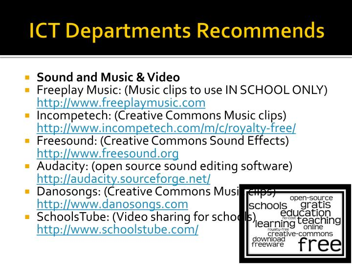 ict departments recommends n.