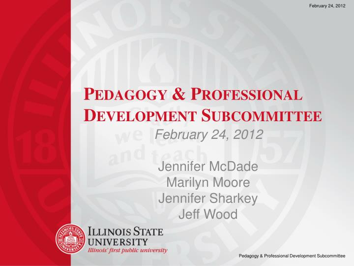 pedagogy professional development subcommittee n.