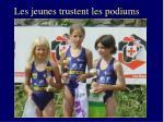 les jeunes trustent les podiums