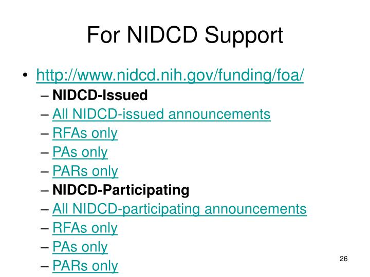 For NIDCD Support