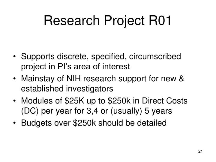 Research Project R01
