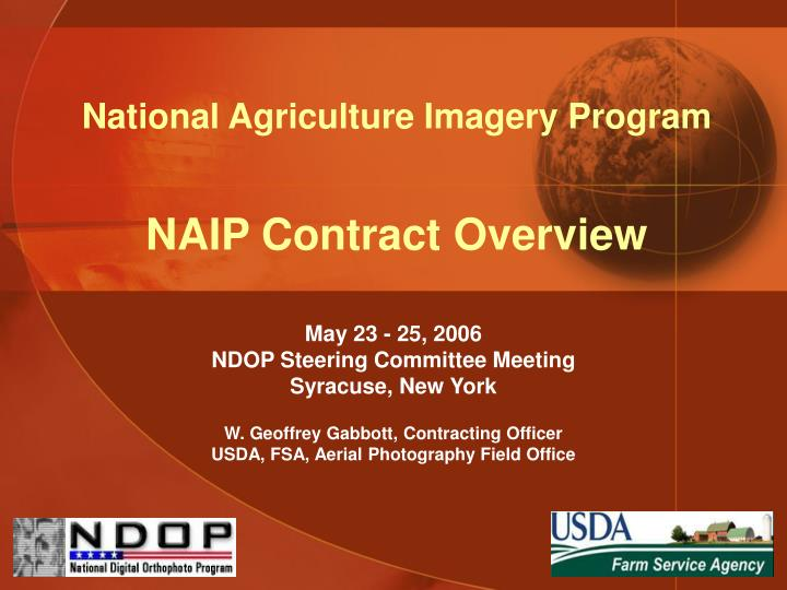 national agriculture imagery program naip contract overview n.