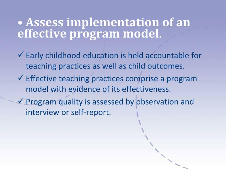 models in early childhood education