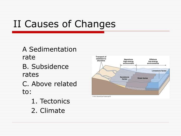 II Causes of Changes