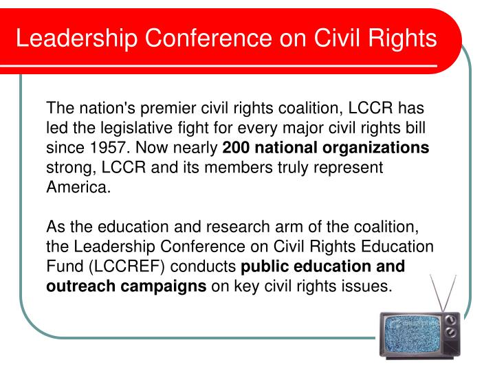 leadership conference on civil rights n.