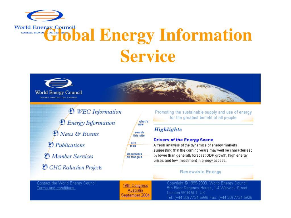 Global Energy Information Service