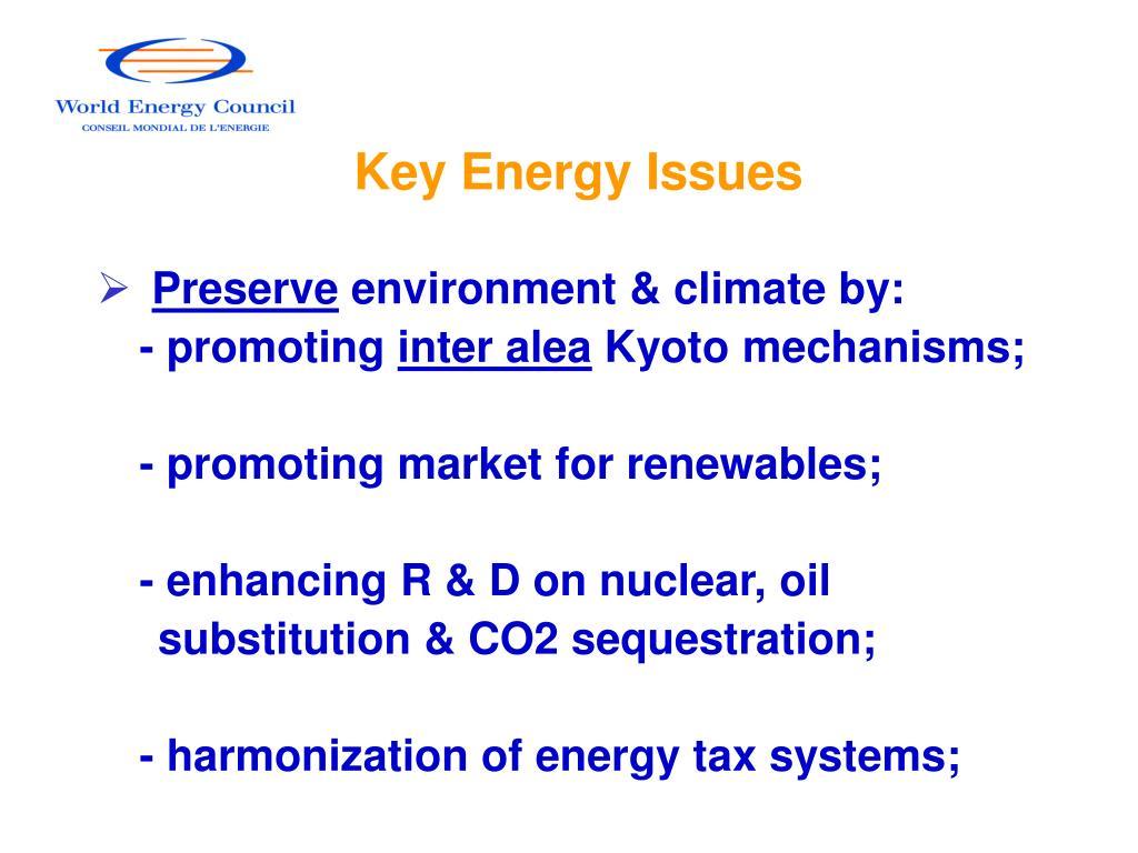 Key Energy Issues