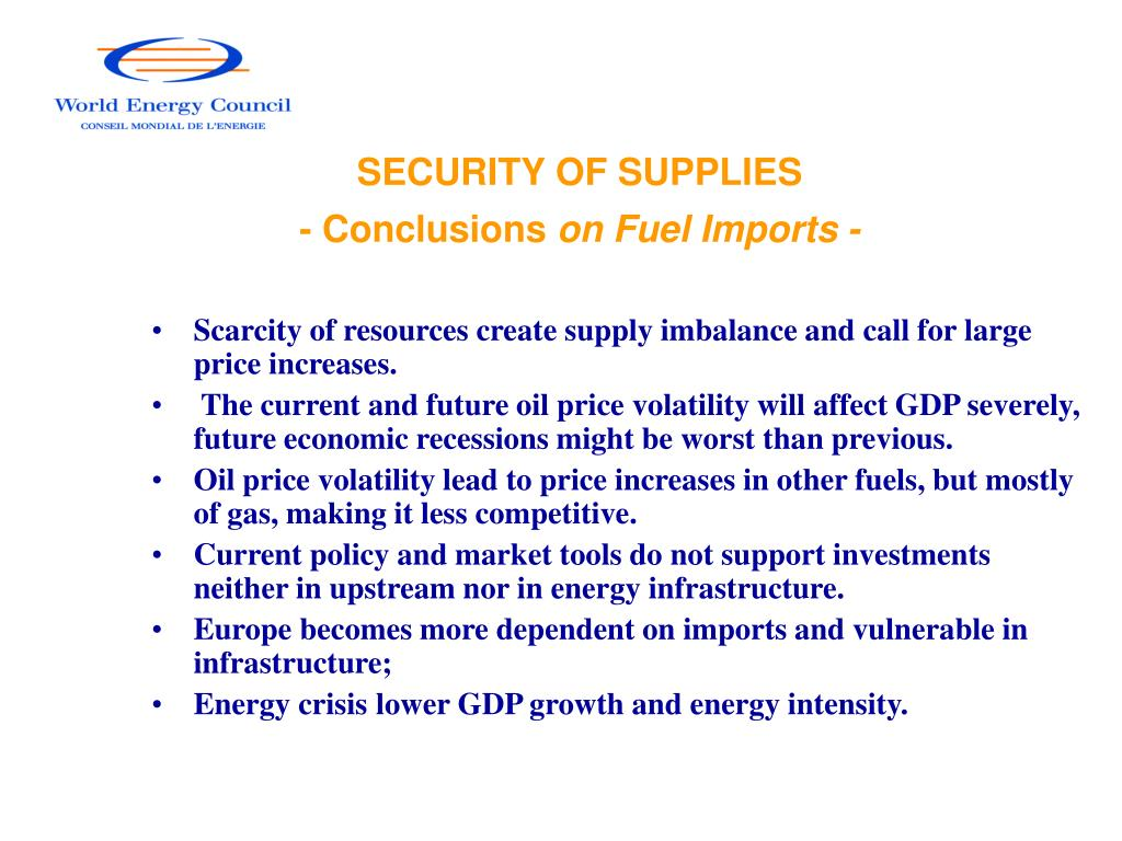 SECURITY OF SUPPLIES