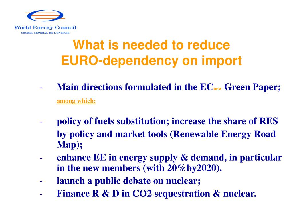 What is needed to reduce