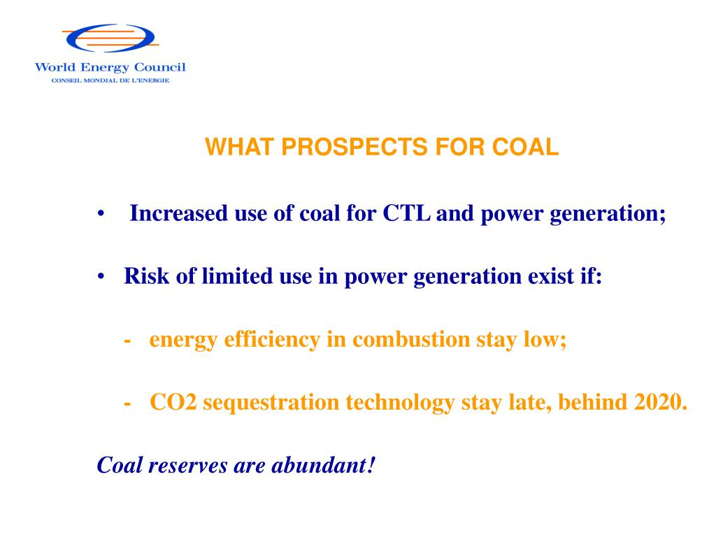 WHAT PROSPECTS FOR COAL