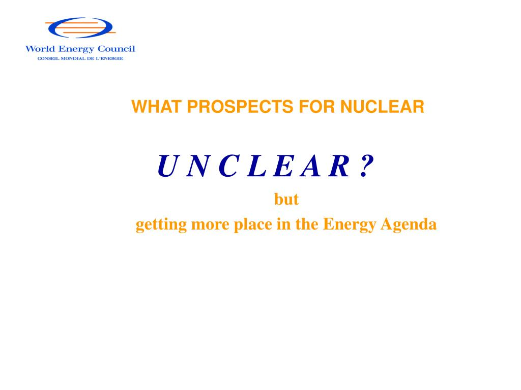 WHAT PROSPECTS FOR NUCLEAR