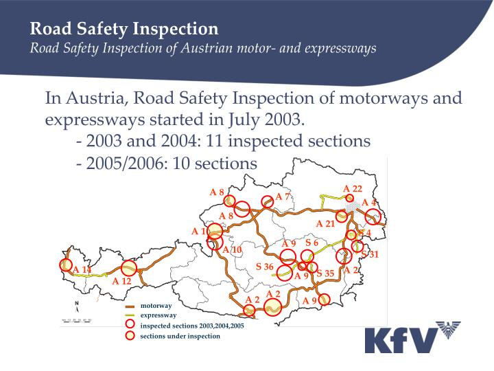 Road safety inspection road safety inspection of austrian motor and expressways