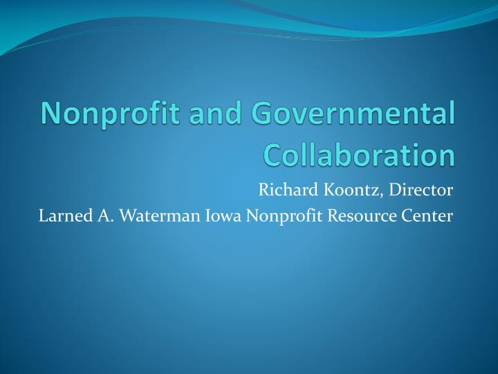 nonprofit and governmental collaboration n.