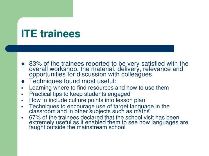 ITE trainees