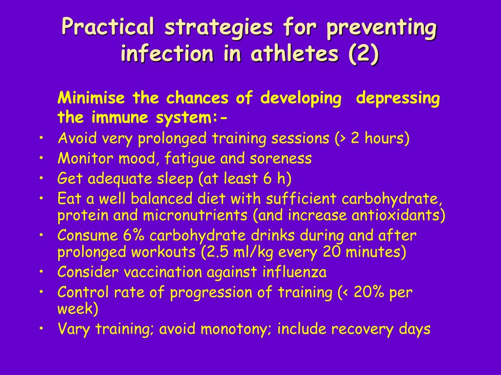 Practical strategies for preventing infection in athletes (2)