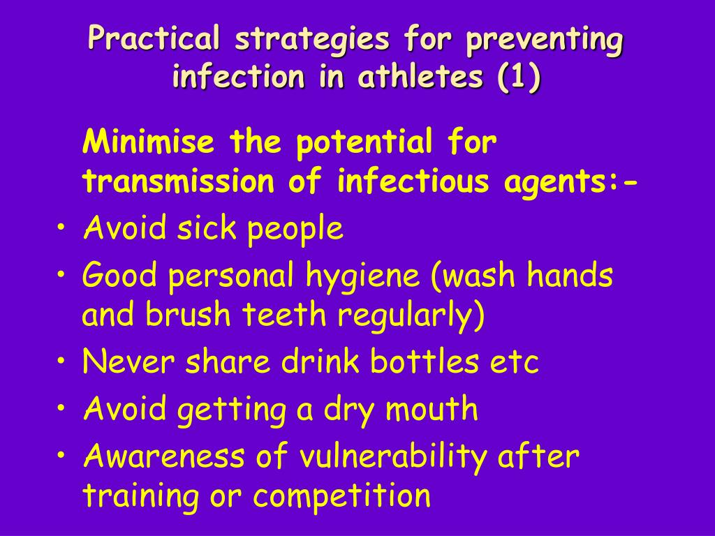 Practical strategies for preventing infection in athletes (1)