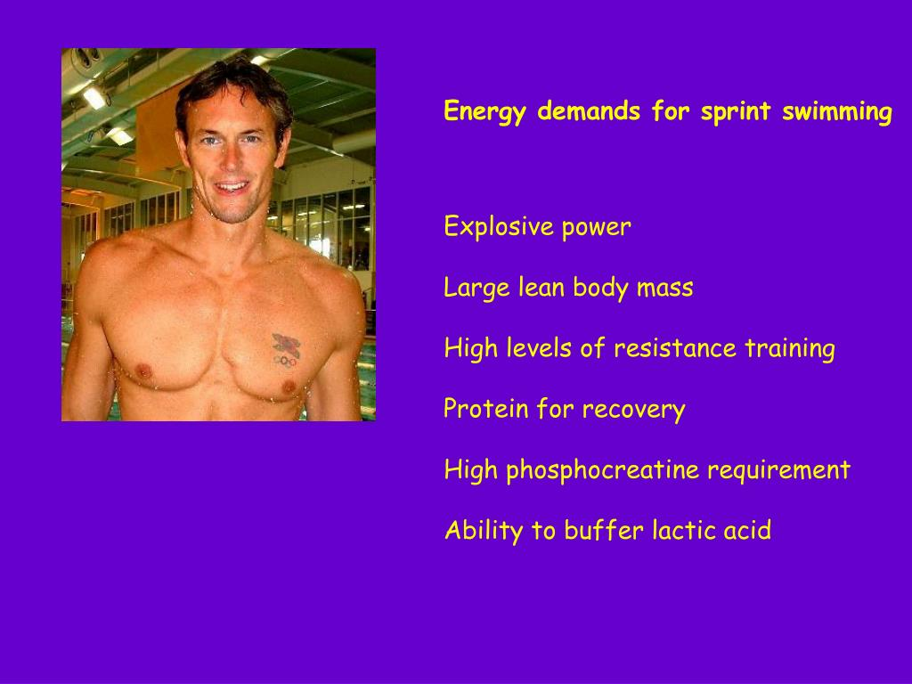Energy demands for sprint swimming