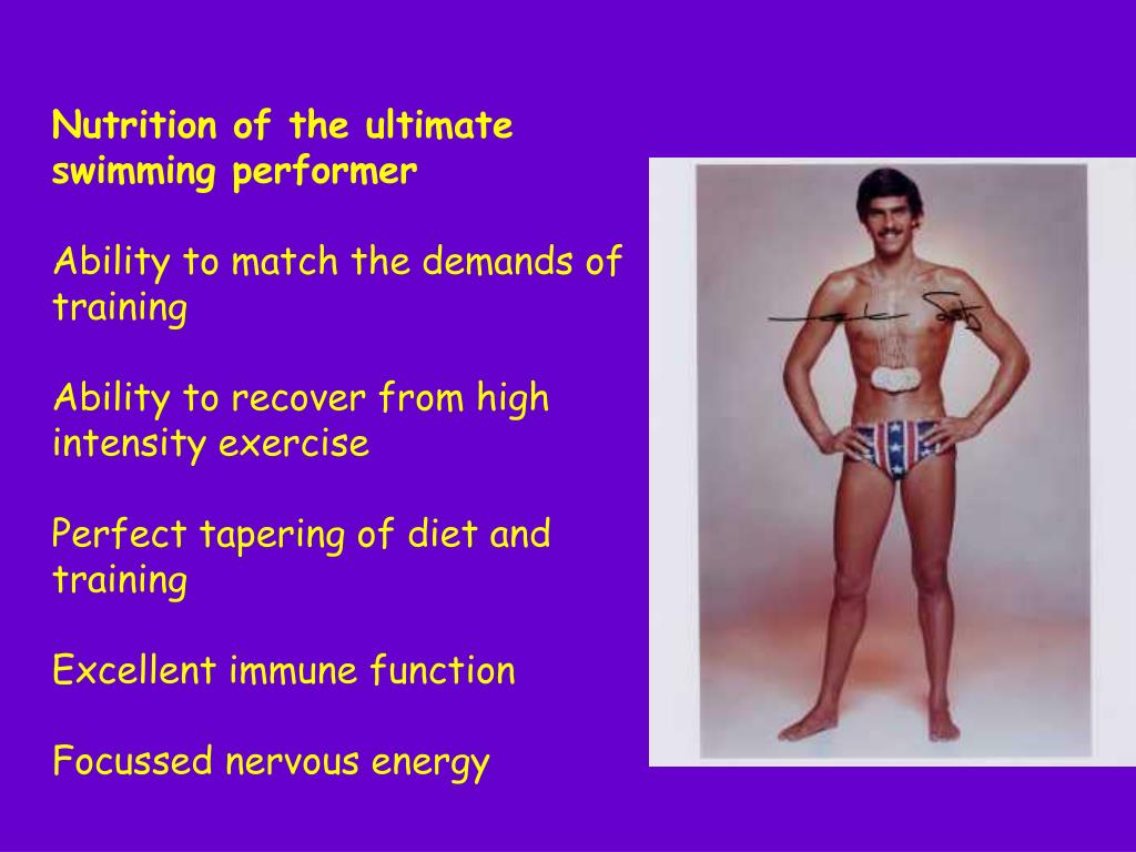 Nutrition of the ultimate swimming performer