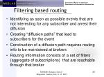 filtering based routing