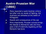 austro prussian war 1866