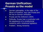 german unification prussia as the model