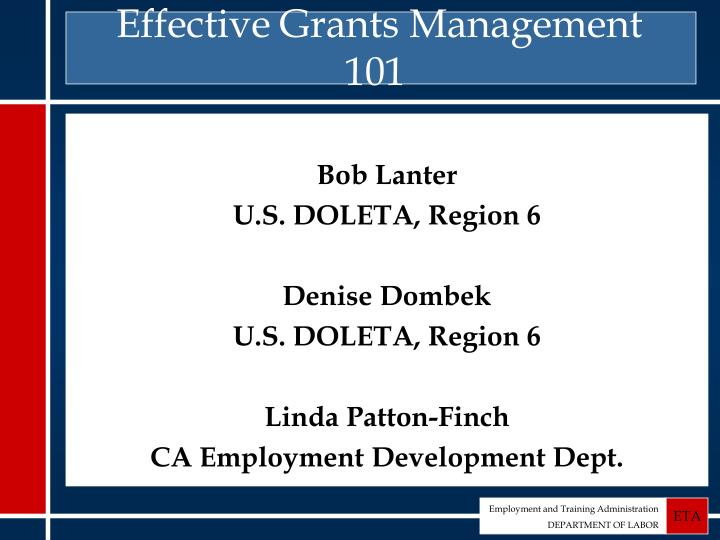 effective grants management 101 n.