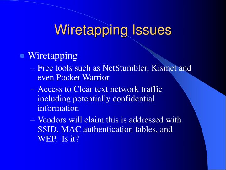 Wiretapping Issues