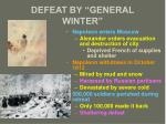 defeat by general winter