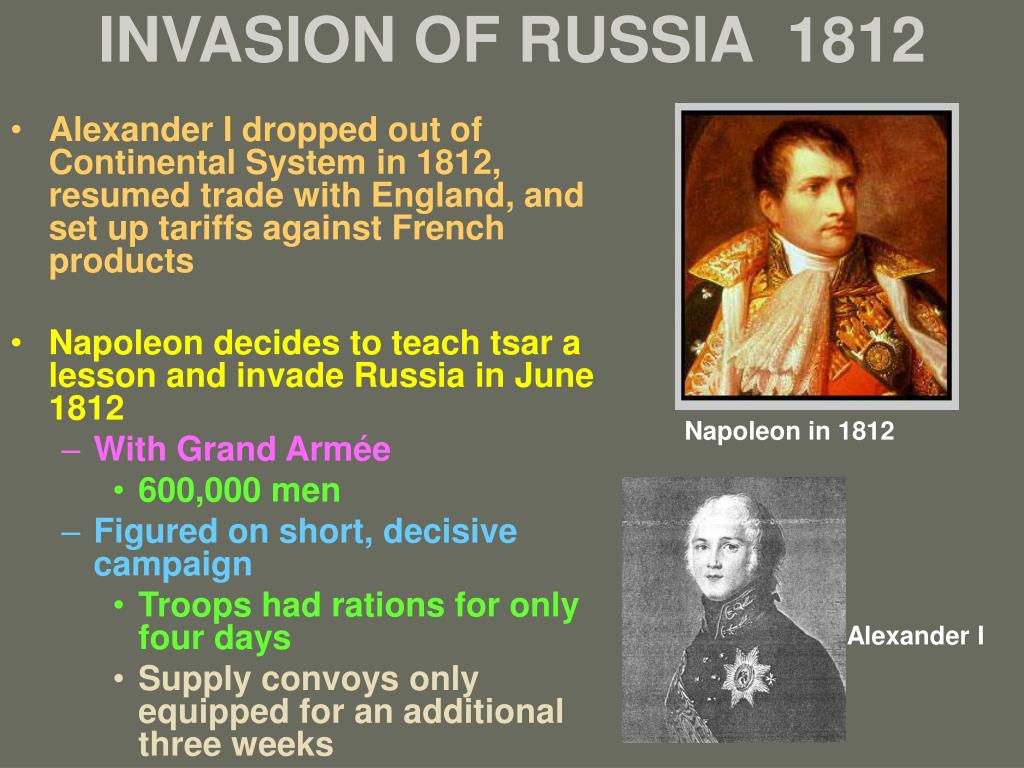 INVASION OF RUSSIA  1812