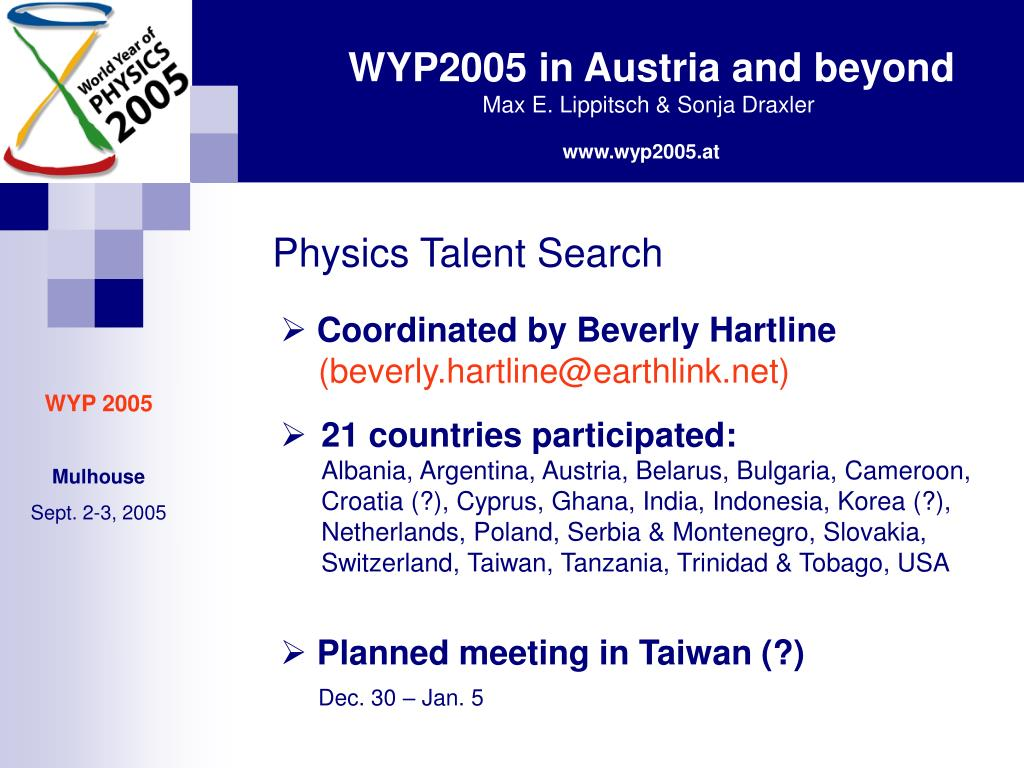 Physics Talent Search