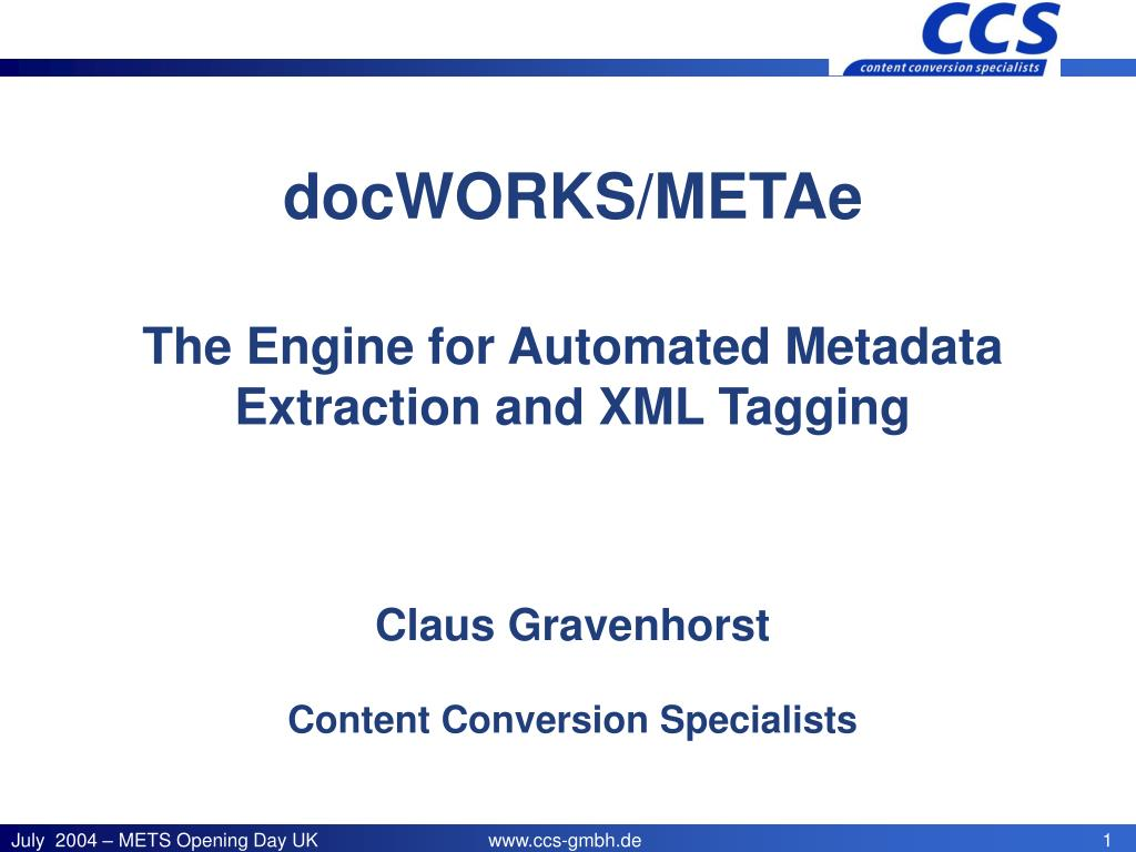 docWORKS/METAe