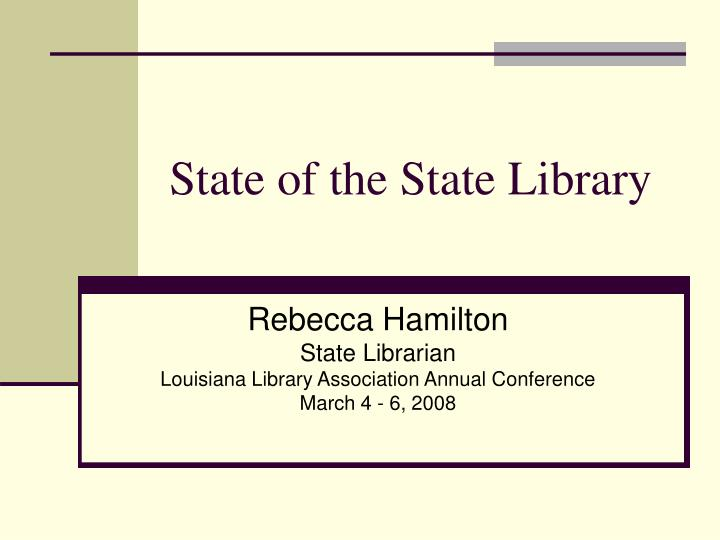 state of the state library n.
