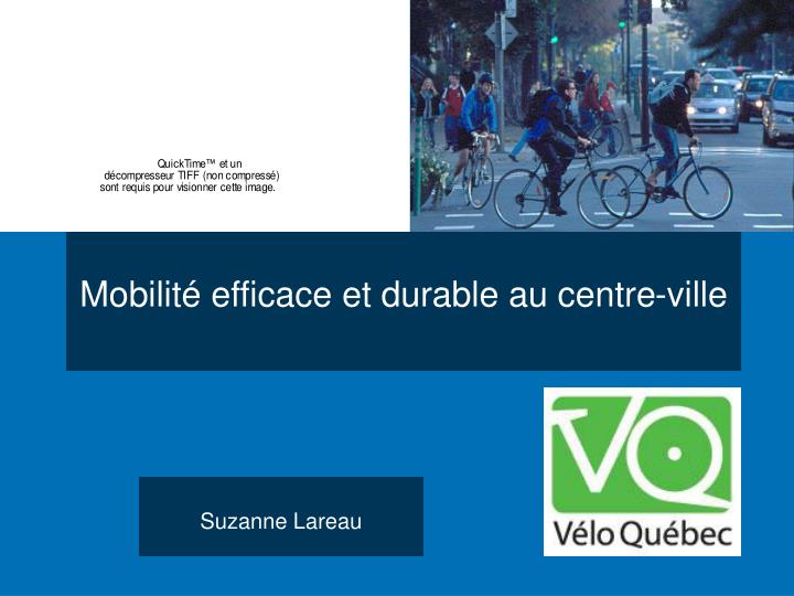 mobilit efficace et durable au centre ville n.
